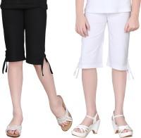 Sini Mini Capri For Girls Solid Cotton(Multicolor)