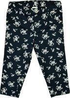 Caca Cina Capri For Girls Floral Print Cotton(Dark Blue)