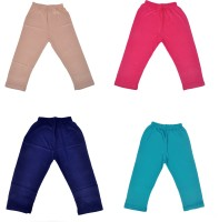 Perky Capri For Girls Solid Cotton(Pink Pack of 4)