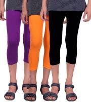 Alisha Capri For Girls Solid(Multicolor)