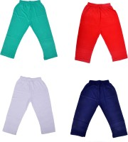 Perky Capri For Girls Solid Cotton(Multicolor Pack of 4)