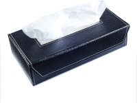 Ecoleatherette Tb.Bk Vehicle Tissue Dispenser(Black)