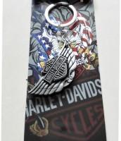 Optimus traders Motor Harley-Davidson Cycles letter Logo Metal Keychain keyring Locking Key Chain(Silver)