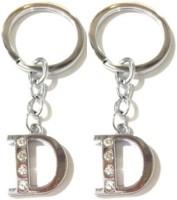 Rashi Traders 2 Alphabet D Chrome Key Chain(Silver)