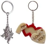 Rashi Traders Ganpati & Heart Frame Key Chain(Silver)