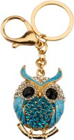 Avaron Projekt Owl With Cute Swarovski Detailing Handbag Charm Locking Key Chain(Blue)