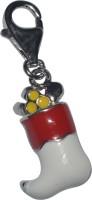 Kataria Jewellers Christmas Stocking Santa Claus Locking Key Chain(Red, Silver)