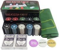 Bs Spy Texas Hold'Em Poker Set (Tin Case) – 200 Chipss Duplex Centered Board(Multicolor)