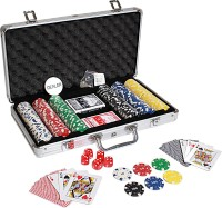 Casinoite 300 Pieces Diced Poker Chip Set with Denomination Toy(Multicolor)