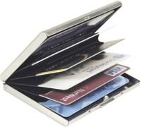 Empreus Stainless Steel 6 Card Holder(Set of 1, Silver)