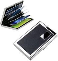 Empreus Stainless Steel Black 6 Card Holder(Set of 1, Black)
