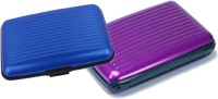 Alexus 6 Card Holder(Set of 2, Purple, Blue)