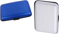 Alexus 6 Card Holder(Set of 2, White, Blue)