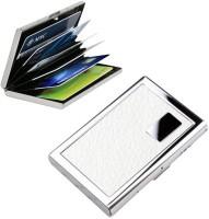 Empreus Stainless Steel White 6 Card Holder(Set of 1, White)