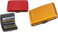 Alexus 6 Card Holder(Set of 2, Red, Yellow)