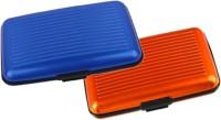 Alexus 6 Card Holder(Set of 2, Blue, Orange)