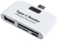 A Connect Z TypeC-CR-002-AcZ102 Card Reader(White)
