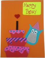 RMantra Greeting Card(Orange, Pack of 1)