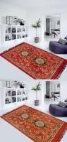 FURNISHINGLAND Multicolor Polyester Carpet(150 cm  X 210 cm)
