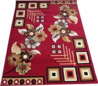 Farhan Carpet Red Polypropylene Carpet(120 cm  X 155 cm)