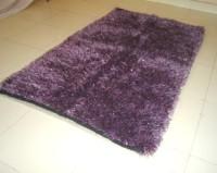 Little Home Purple Cotton Polyester Blend Area Rug(90 cm  X 150 cm)