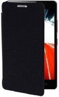 DR2S Flip Cover for Micromax Canvas Mega Q417(Black, Artificial Leather)