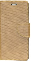 Gizmofreaks Flip Cover for Micromax Canvas Mega 4G Q417(Beige, Artificial Leather)