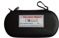 Ultimate Gaming World Pouch for Sony PSP 1000,2000,3000 and E1000/4, Zip Pouch(Black, Rubber)