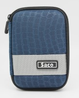 Saco Pouch for Dell Portable BackupHardDrive 1 TB ExternalHardDisk(Black, Artificial Leather)