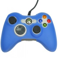 Hytech Plus Sleeve for Xbox 360(Blue, Rubber)