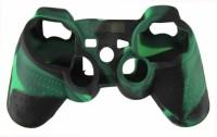 Hytech Plus Sleeve for PS3(Black, Green, Rubber)