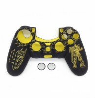 Microware Sleeve for PlayStation 4 Controller(Yellow, Flexible Case)