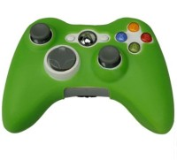Hytech Plus Sleeve for Xbox 360(Green, Rubber)