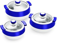 Cello Oscar Exclusive Pack of 3 Thermoware Casserole Set(750 ml, 1100 ml, 1700 ml)