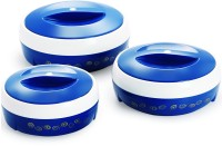 Cello Ultra Blue Pack of 3 Thermoware Casserole Set(500 ml, 850 ml, 1000 ml)