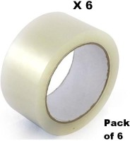 EZPACK Single Sided Packing Tape Packing Tape, Ecommerce Sellers, Clear Tape (Manual)(Set of 6, TRANSPARENT)