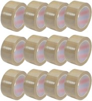 power wonder 40 microns SINGLE SIDED SELF ADHESIVE TAPES (65 METERS)(Set of 12, Brown)