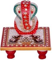 Anshul Fashion Laddu Gopal Eating Makhan Marble All Purpose Chowki(Multicolor, Pack of 1)