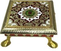 Paramsai Meenakari Work Brass All Purpose Chowki(Multicolor, Pack of 1)