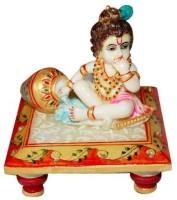 Shreeng Marble Choki krishna Marble All Purpose Chowki(Multicolor, Pack of 1)