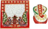 Crafticia Ganesha Chowki Marble All Purpose Chowki(Multicolor, Pack of 2)