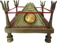Speakfortune.Com Baglamukhi Raksha Kawach With Mantra Vidhi Brass Pooja Chowki(Gold, Pack of 1)