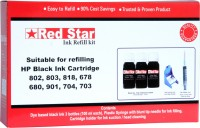 Red Star ink refill kit for HP 678 black ink cartridge for Computers(HP678B)