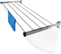 Rainbow Drywell 5 Pipes 5 Feet Glider Stainless Steel Wall Cloth Dryer Stand(Steel, Pack of 1)