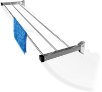 Rainbow Drywell 3 Pipes 4 Feet Glider Stainless Steel Wall Cloth Dryer Stand(Steel, Pack of 1)