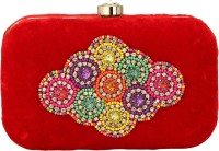 Pashan Kala Party Red  Clutch