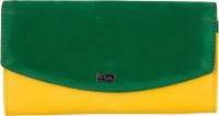 Goodwill LEATHER ART Casual Green, Yellow  Clutch