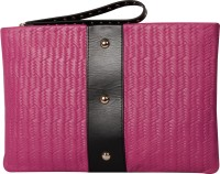 RI2K Women Wedding, Casual, Party, Formal, Festive Pink, Black  Clutch