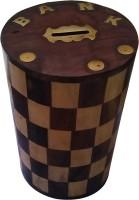SwadesiBuyzzar Wooden Money Bank Coin Bank(Brown)