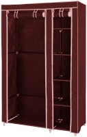 View MSE Maroon Fancy and Portable Multipurpose Wardrobe_Q1 Stainless Steel Collapsible Wardrobe(Finish Color - Maroon) Furniture (MSE)